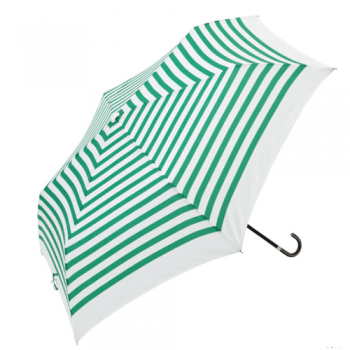 striped umbrella green and white