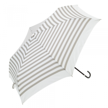 striped umbrella grey and white