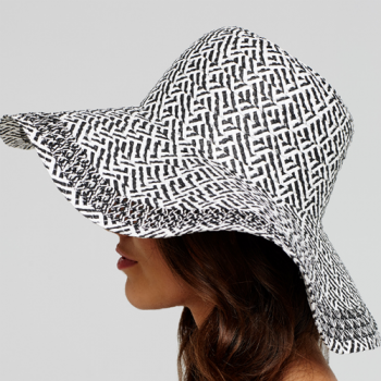 Black & White Sun Hat, Side View