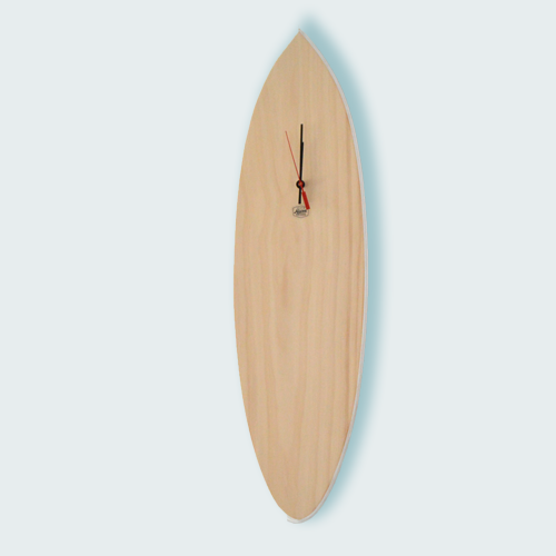 Surfboard Clock White