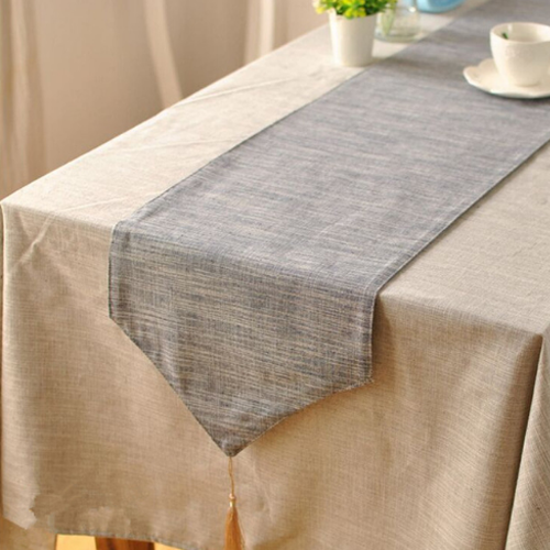 Modern Table Runners, Blue/Grey