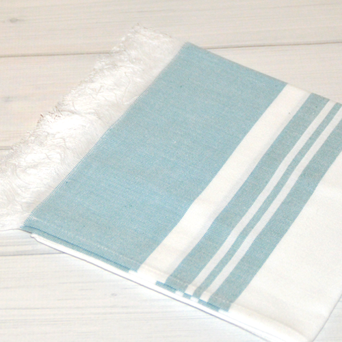 Turkish Cotton Hand Towels_Aqua