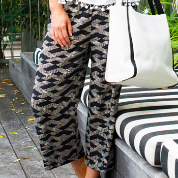 Autumn 3-4 Pants, Black & White