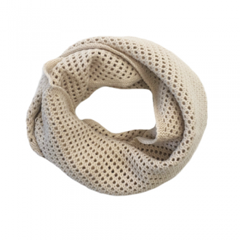 Cowl Knit Scarf, Soft Sand