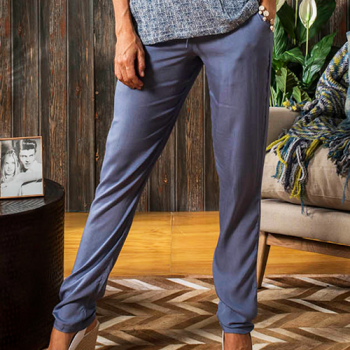 Panthea Pants, Denim Blue