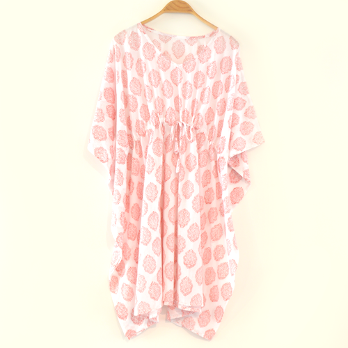 Red Print Cotton Kaftan