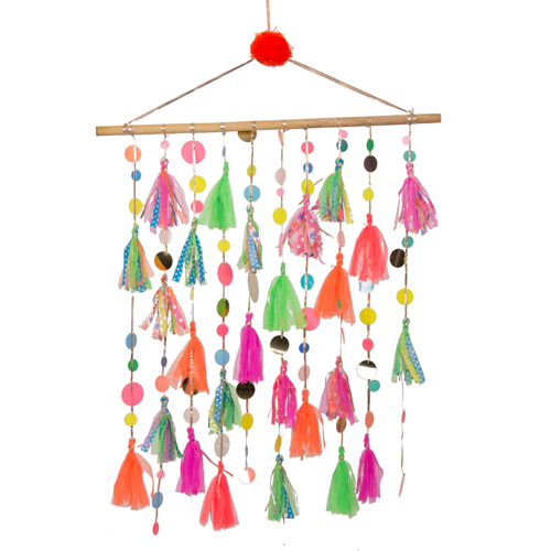 Home Decor Colorful Tassel Wall Hanging