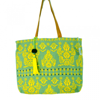 Sea Green Embroidered Bag