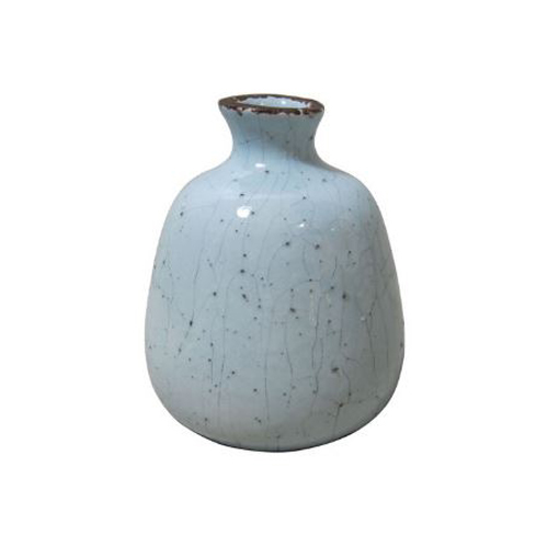 Bud Vase - Blue Ceramic