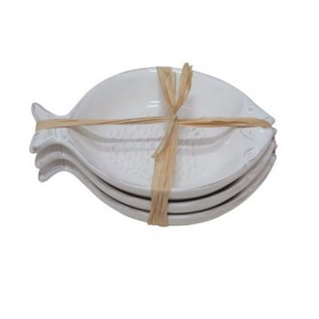 Fish Plate - White, Set of 3