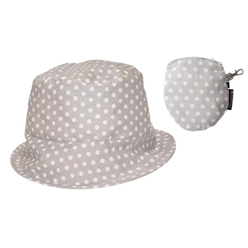 Travel Hat - Sand Polka Dots