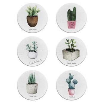 Retro Drink Coasters (Set of 6)