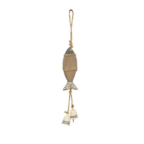 Nautical Wooden Fish Hanging Ornament