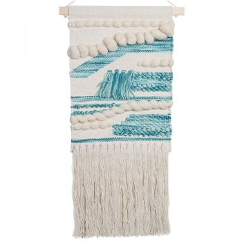 Wall Hanging - Cream & Aqua